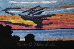 """Sunset over Grande-Entree (2010) 15.5"""" x 10"""" (Available)"""