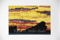 """Sunset on the Rock (2014) 7"""" x 5"""" ( Sold)"""