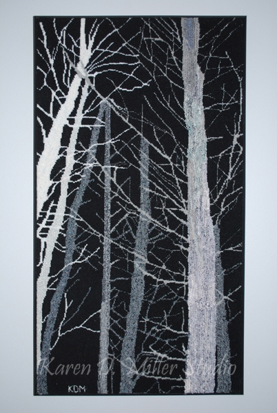 """Ghost Trees (2014) 17"""" x 32"""" (PRIVATE COLLECTION)"""
